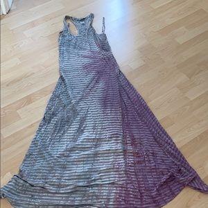 Hard tail maxi stripped the dye dress NEVER WORN